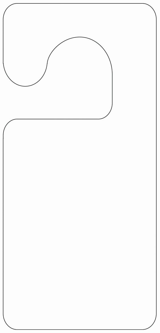 Door Knob Hanger Template New Printable Door Hanger Template
