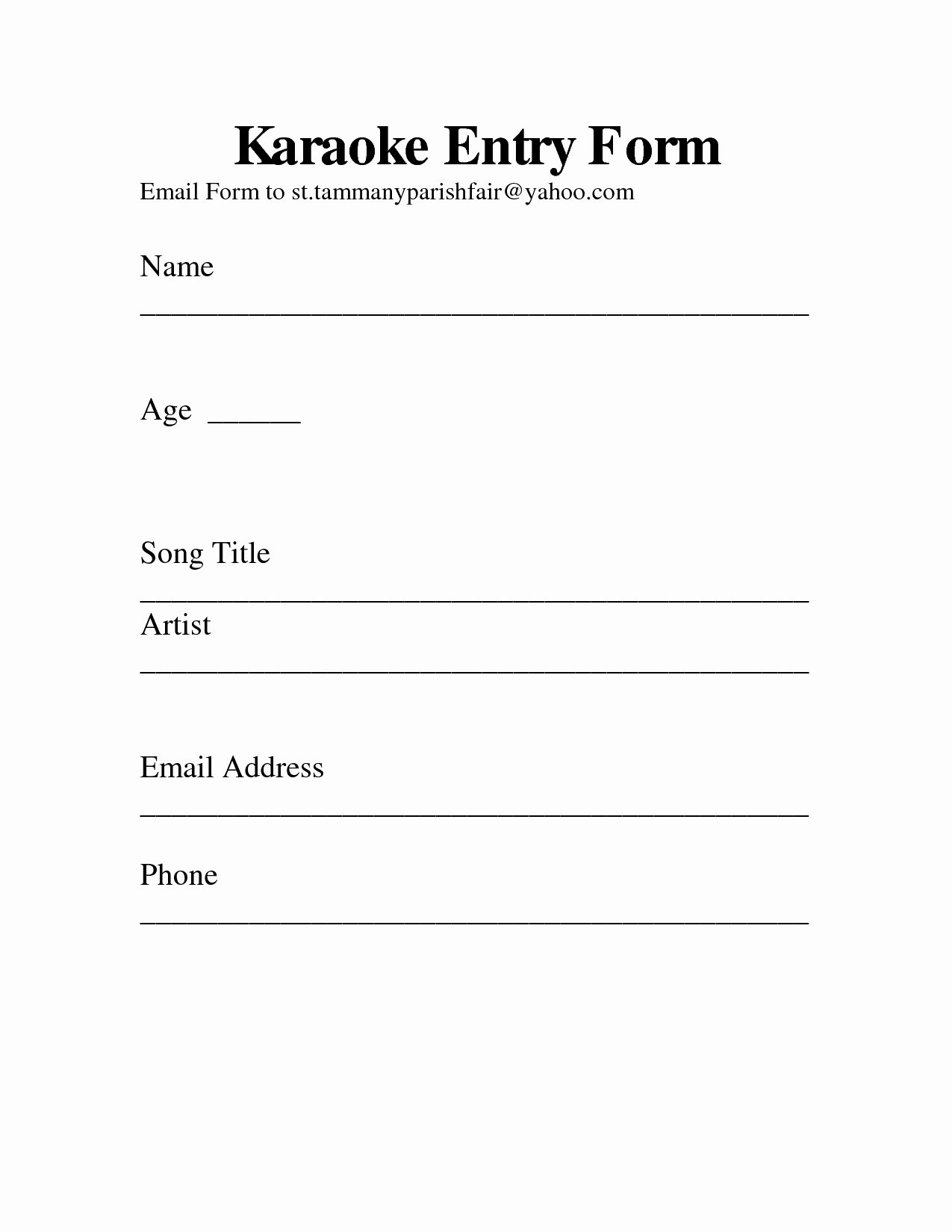 Draw Entry form Template Luxury Drawing Entry form Template Fresh Home Party Drawing Entry