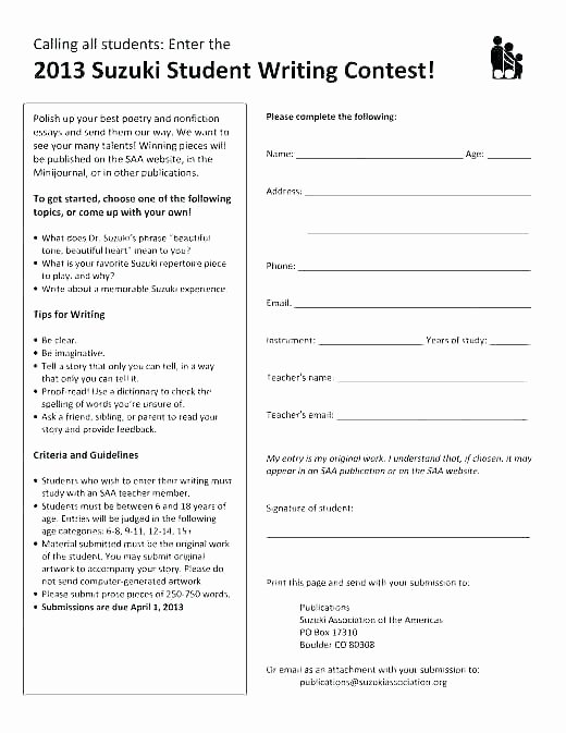 Drawing Entry form Template Inspirational Submission form Template Word