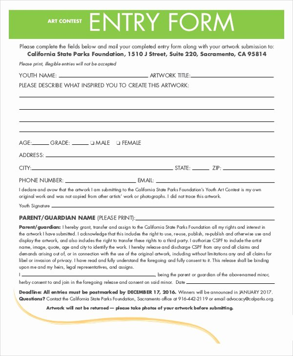 Drawing Entry form Template Word Lovely Contest Entry form Template Door Prize Drawing Slips