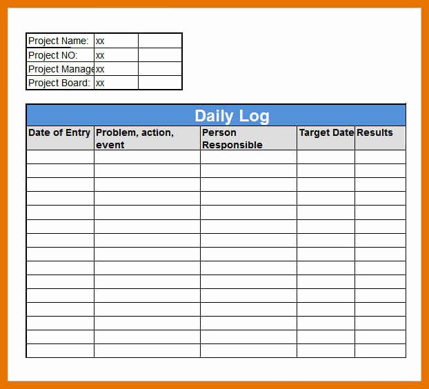 Driver Log Template Best Of 8 9 Daily Log Sheet