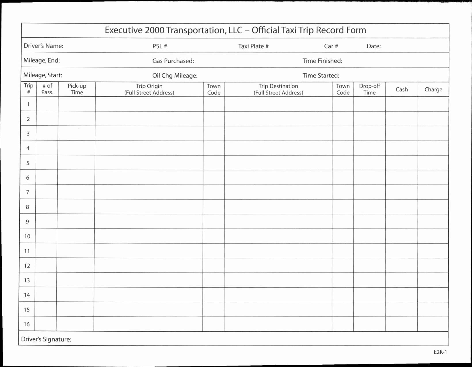 Driver Trip Sheet Elegant Trucking Mileage Spreadsheet Google Spreadshee Trucking