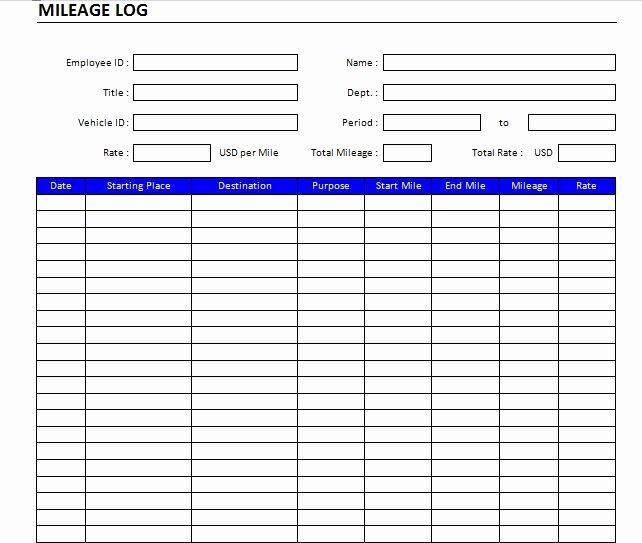 Driver Trip Sheet Template Luxury 22 Printable Mileage Log Examples Pdf