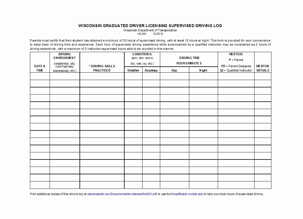 Drivers Log Book Template Awesome 50 Printable Driver S Daily Log Books [templates & Examples]