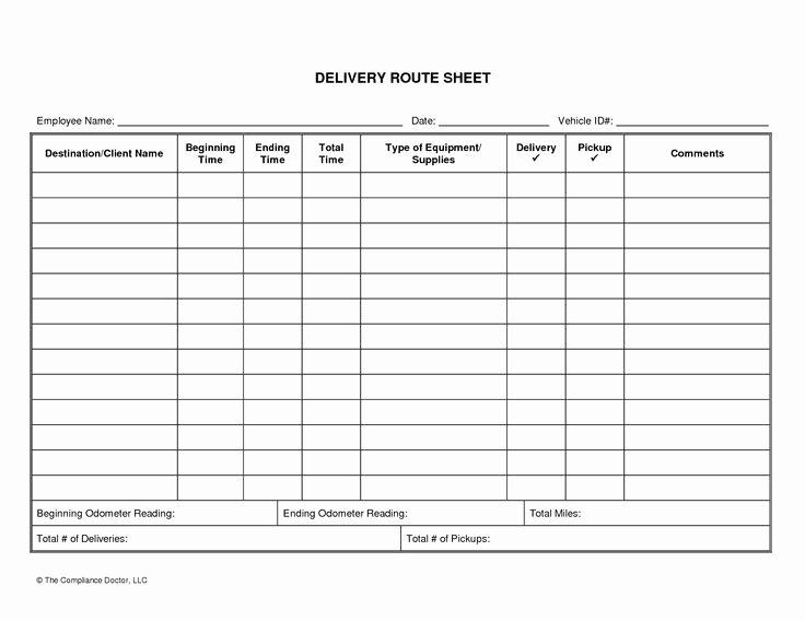 Drivers Log Book Template New Driver Log Sheet Template