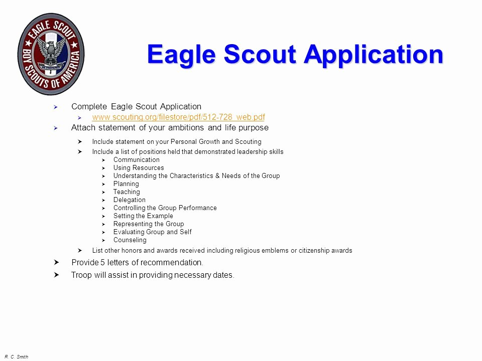 Eagle Scout Ambition Statement Example Beautiful Eagle Candidate Seminar Ppt