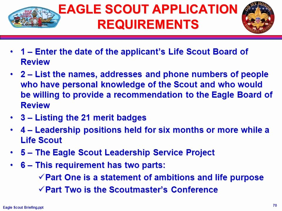 Eagle Scout Ambition Statement Example Beautiful Eagle Scout Information Requirements Ppt