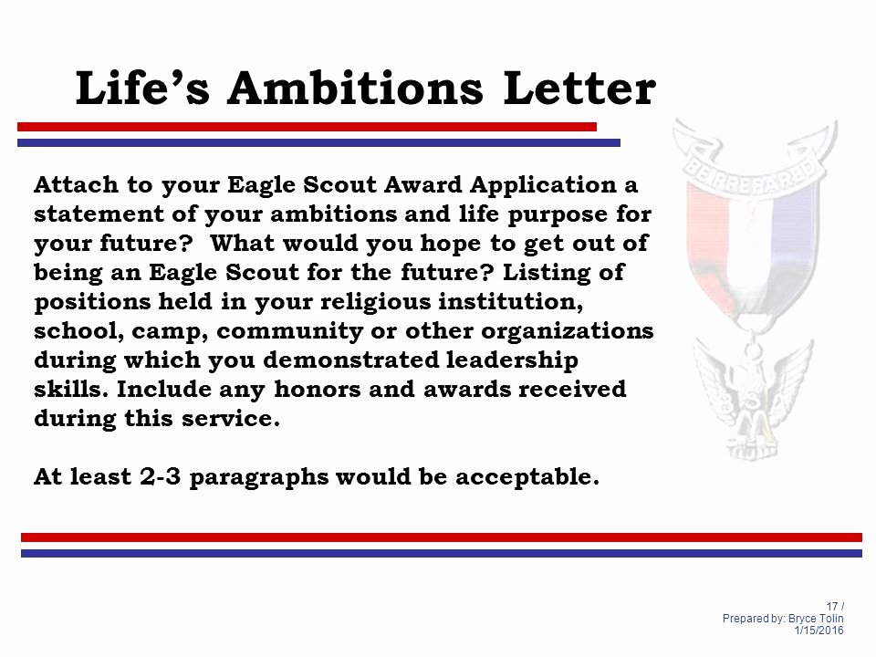 Eagle Scout Ambition Statement Example Elegant Life to Eagle Seminar Lighthouse District south Florida