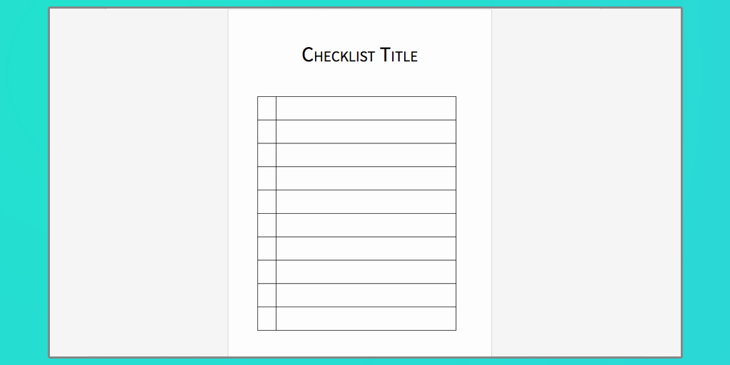 Editable Checklist Template Word Inspirational Checklist Template Word