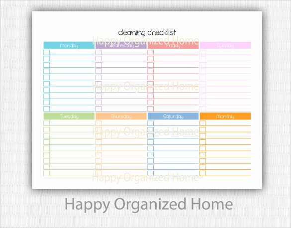 Editable Checklist Template Word Luxury Editable Cleaning Schedule Template
