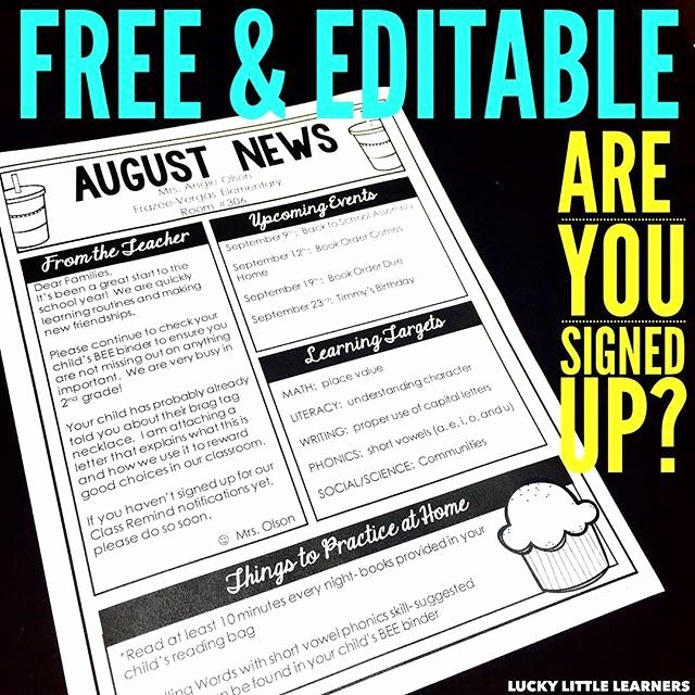 Editable Class List Awesome 17 Best Ideas About Preschool Newsletter Templates On