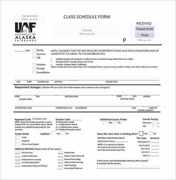 Editable Class List Awesome Class Schedule Template 36 Free Word Excel Documents