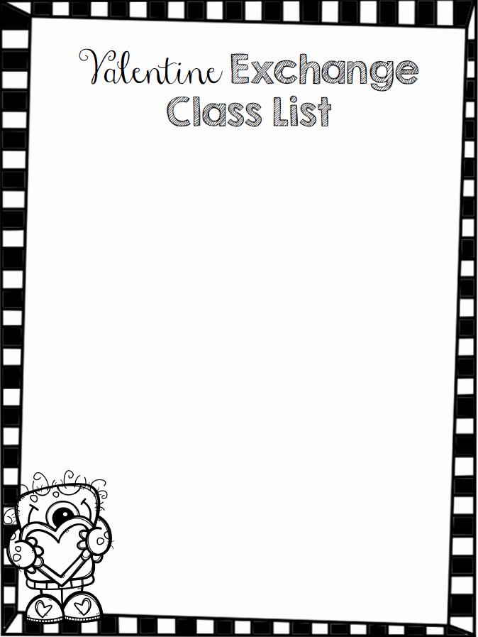 Editable Class List Elegant Teach Dream Inspire Editable Valentine Class List Freebie