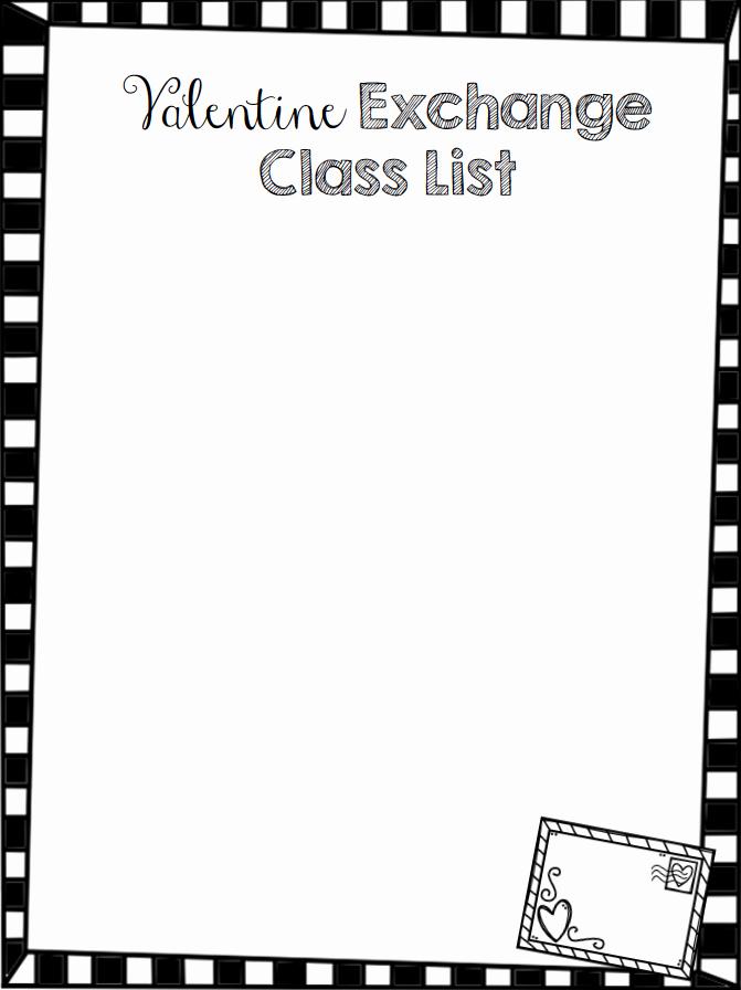 Editable Class List Fresh Teach Dream Inspire Editable Valentine Class List Freebie