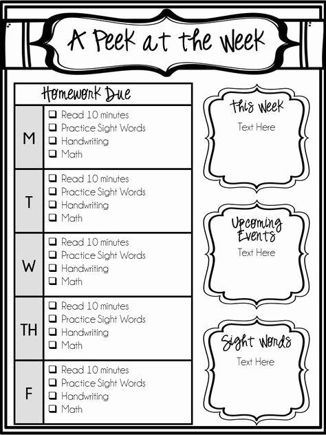Editable Class List New 25 Best Ideas About Homework Checklist On Pinterest
