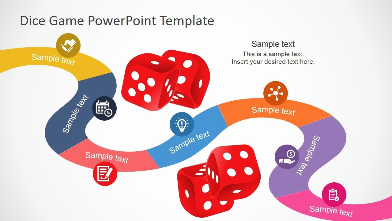 Editable Dice Template Beautiful Board Game Powerpoint Template