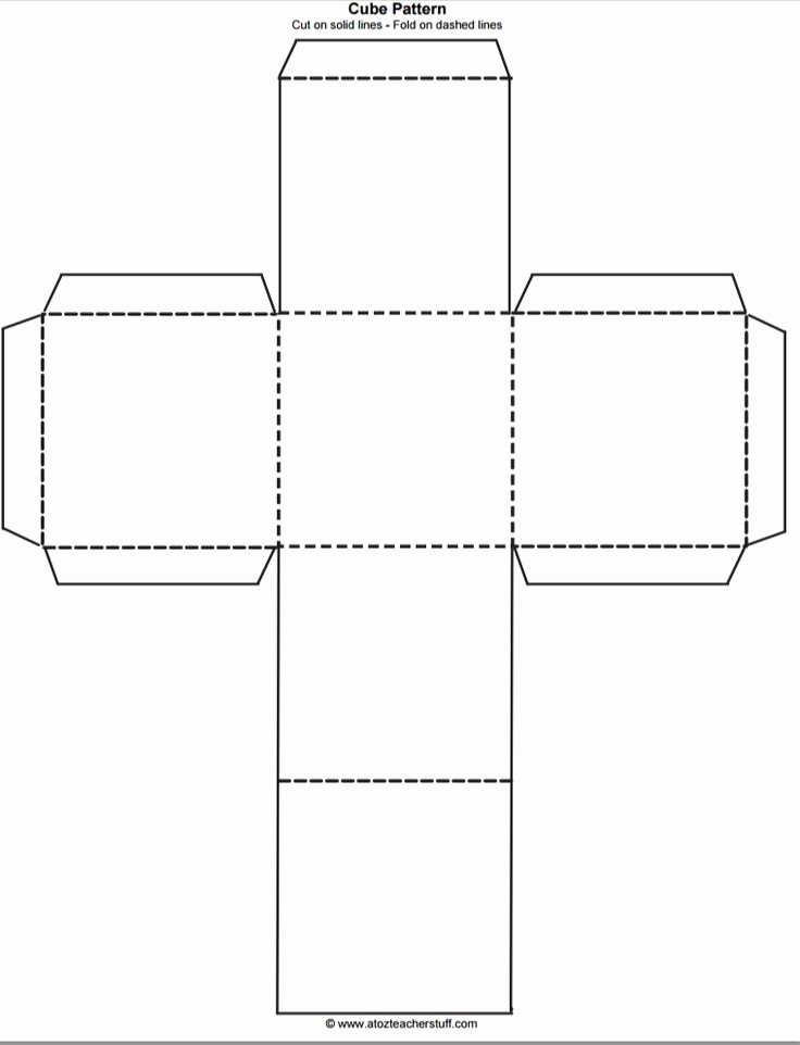 Editable Dice Template Elegant Cube Outline Free Printable