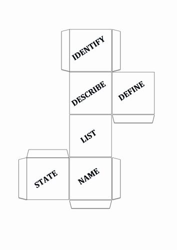 Editable Dice Template Luxury Mand Word Dice Template by Vikkinewton