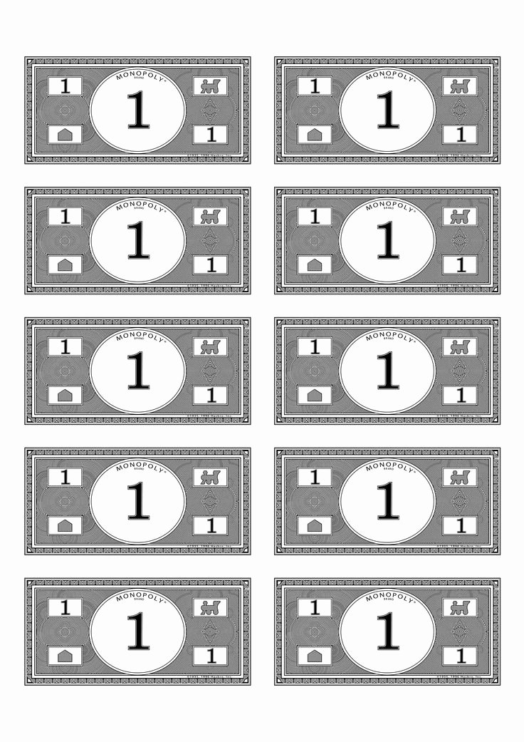 Editable Play Money Template Beautiful Monopoly Money Template Beepmunk
