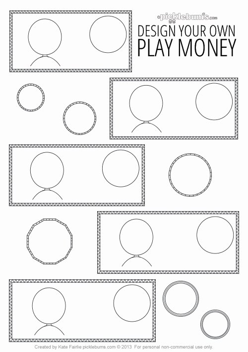 Editable Play Money Template Inspirational Design Your Own Printable Play Money Picklebums