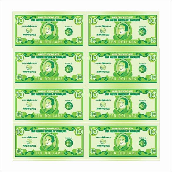 Editable Play Money Template Lovely Editable Play Money Template