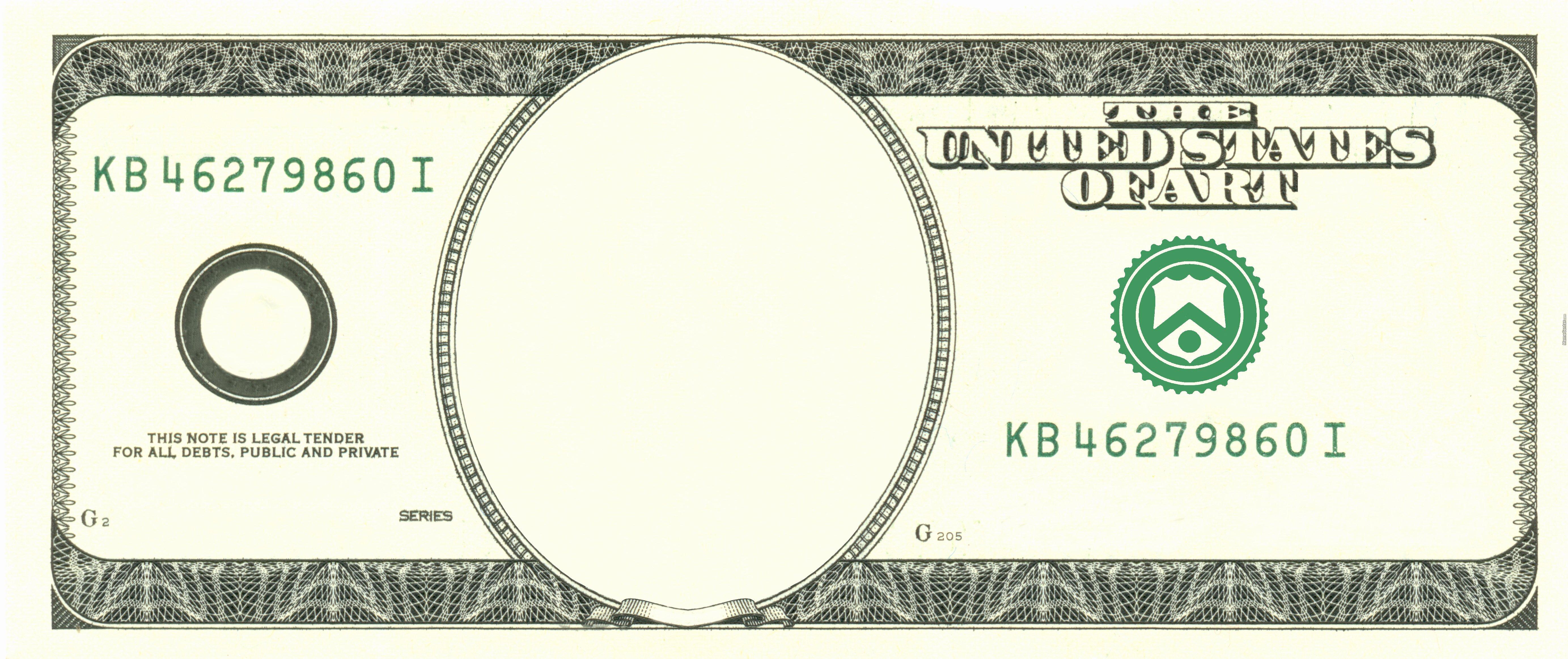 Editable Play Money Template Unique Art Dollar Blank by Kuraimizu Meme Center