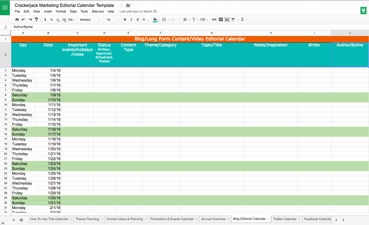 Editorial Calendar Template Google Docs Awesome Basics Of the social Media Editorial Calendar