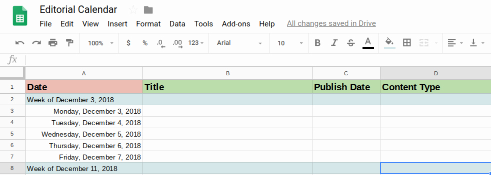Editorial Calendar Template Google Docs Beautiful How to Create A Calendar In Google Docs