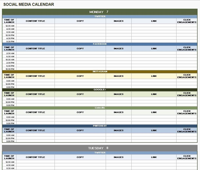 Editorial Calendar Template Google Docs Fresh social Media Calendar Template Google Docs