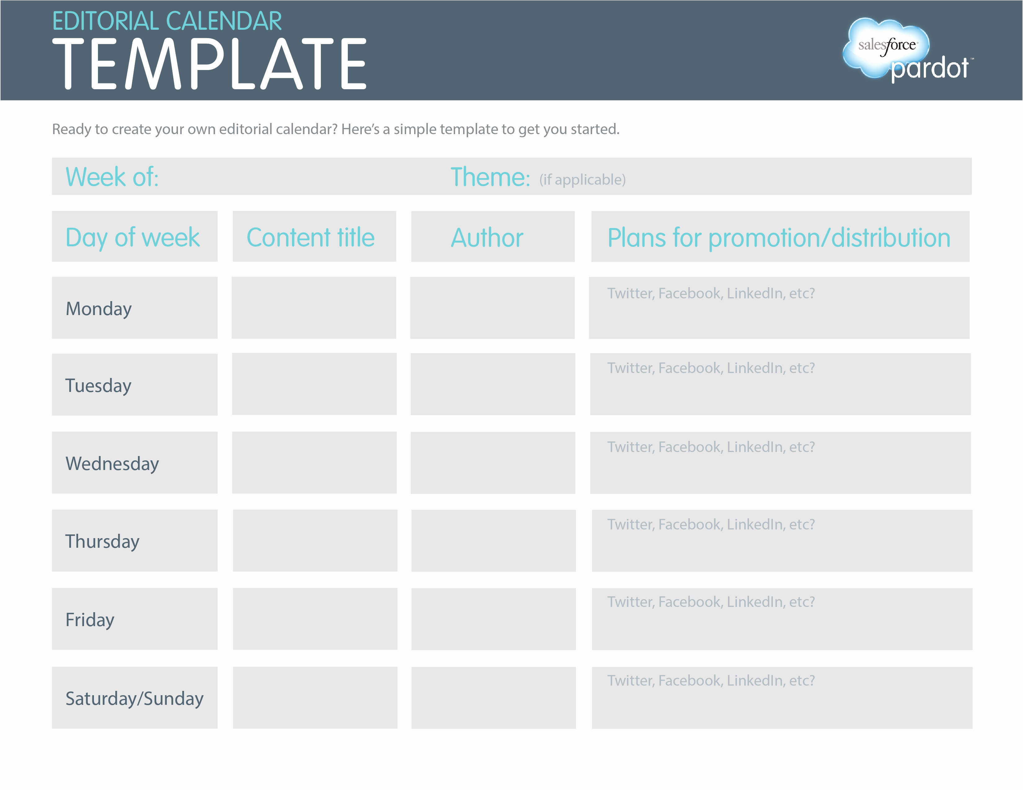 Editorial Calendar Template Google Docs New Editorial Calendar Template