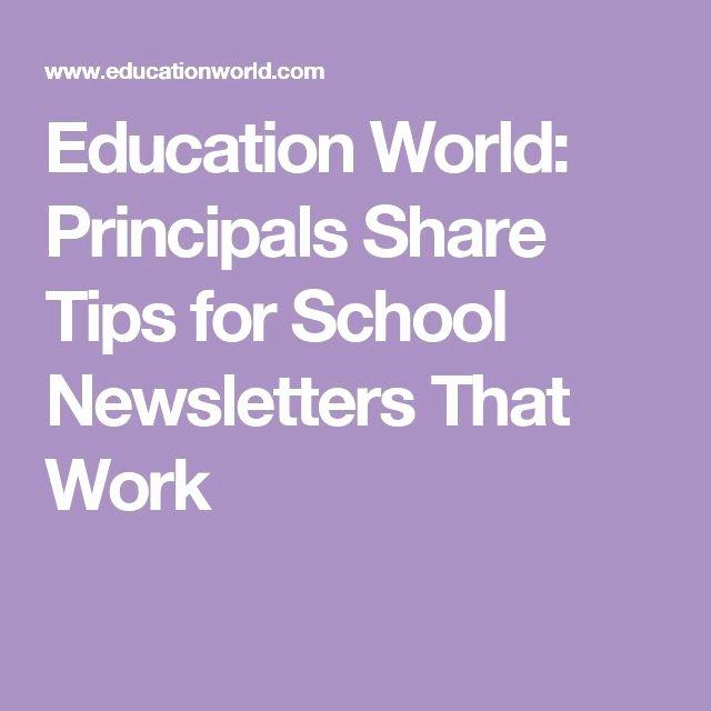 Education World Newsletter Beautiful Best 25 School Newsletters Ideas On Pinterest