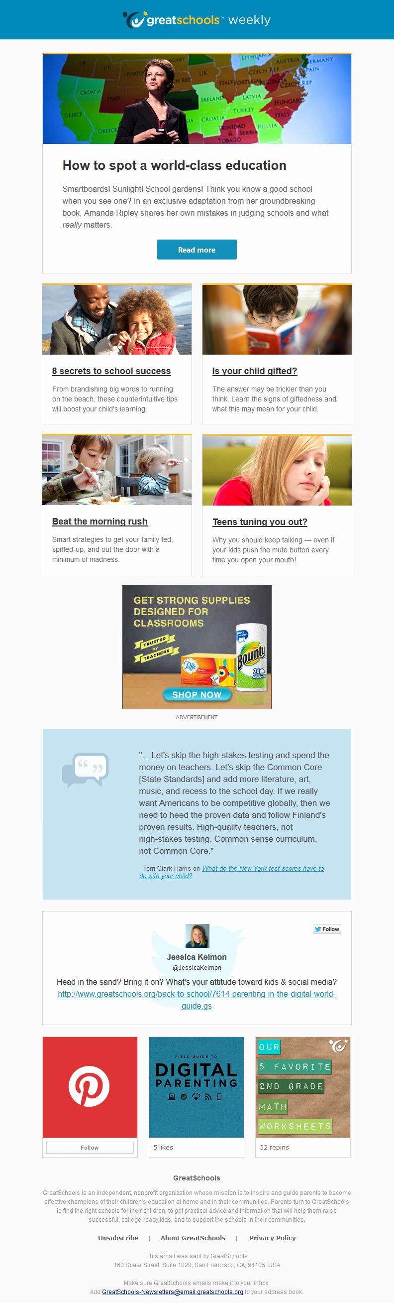 Education World Newsletter Beautiful Introducing the Greatschools Newsletter