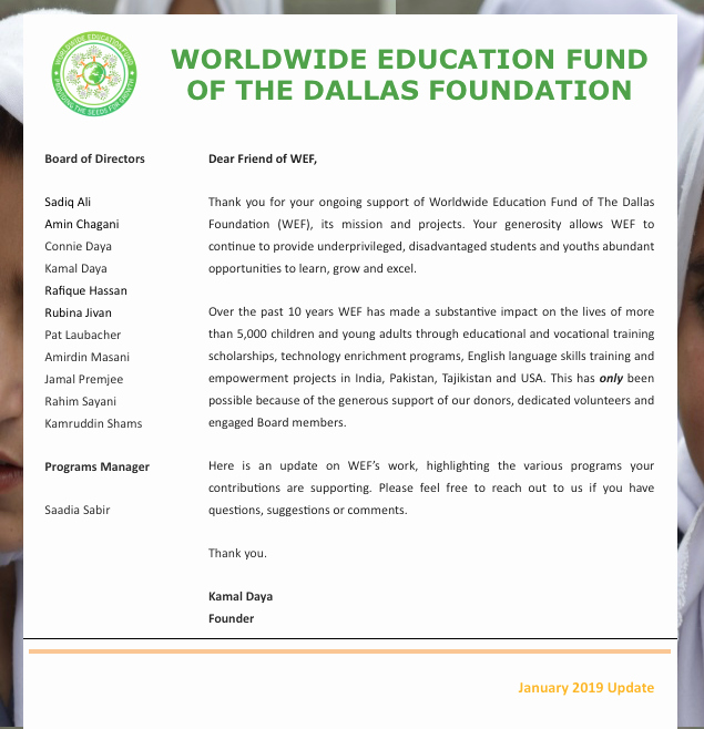 Education World Newsletter Beautiful Worldwide Education Fund Of the Dallas Foundation
