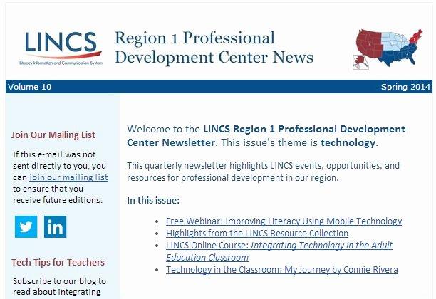 Education World Newsletter Fresh Lincs Newsletter and Webinar Announcement Edtech Center