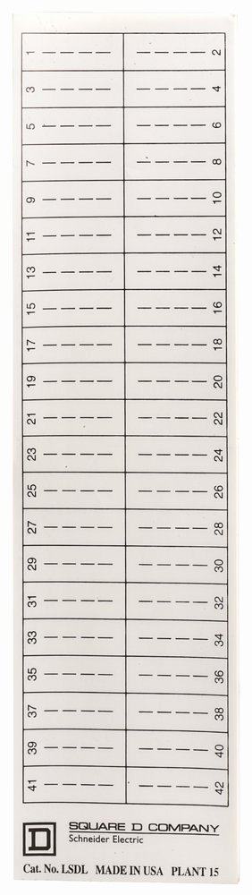 Electrical Panel Labels Template New Schneider Electric Lsdl Square D Directory Label