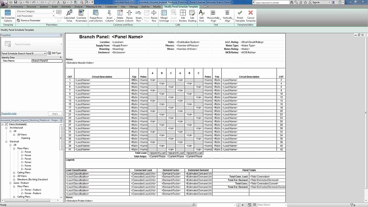 Electrical Panel Schedule Template Excel Awesome Revit for Mep Electrical Systems Panel Templates