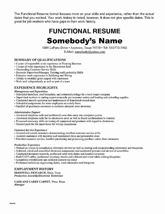 Electronics Technician Resume Sample Lovely Resume Tutorial Pro – All About Resume Site