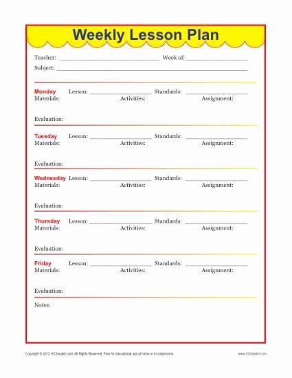 Elementary School Lesson Plan Luxury Weekly Detailed Lesson Plan Template Elementary