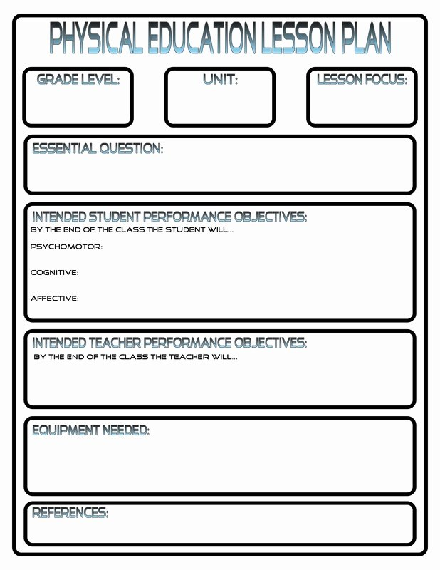 Elementary School Lesson Plan New Lesson Plans Phys Ed Review