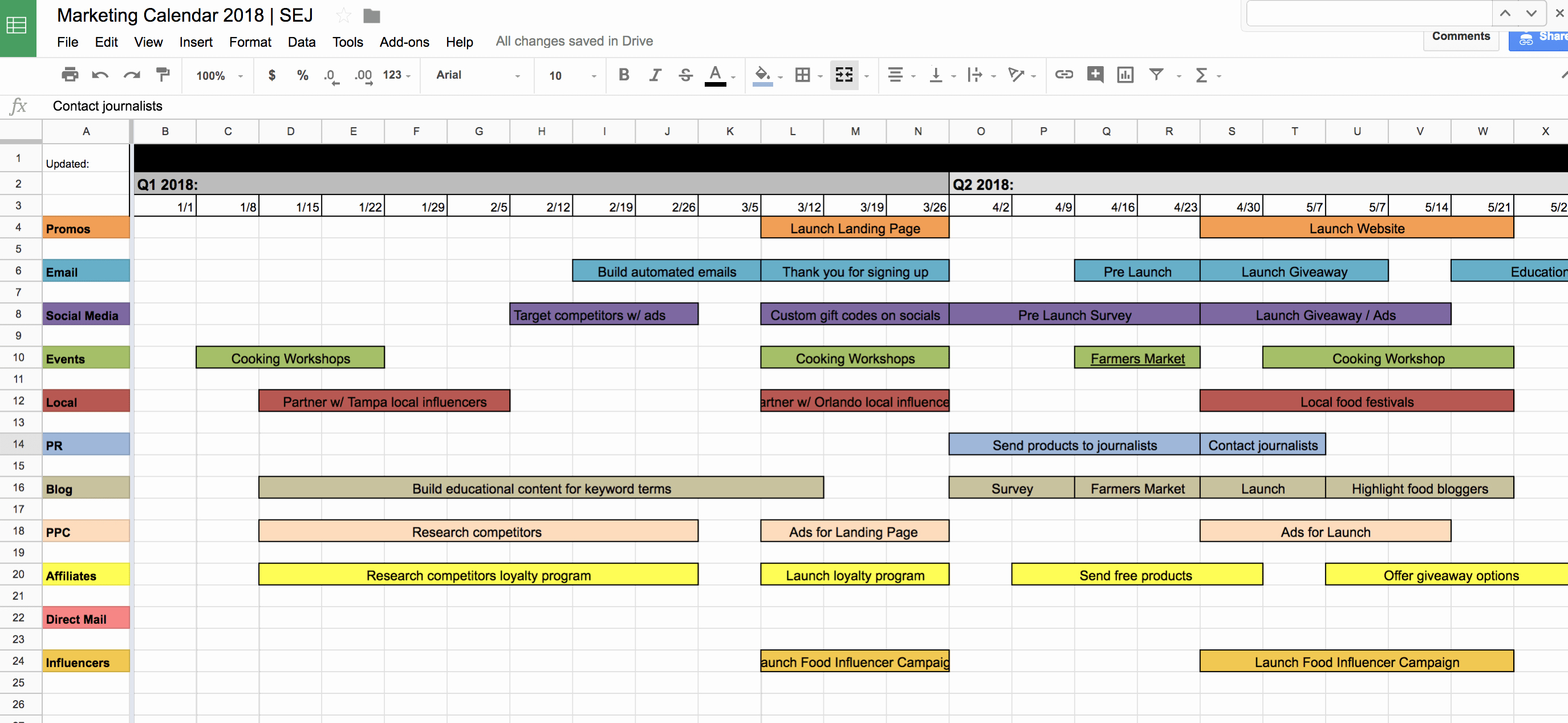 Elementary School Master Schedule Template Best Of You Need This 2018 Marketing Calendar & Free Template