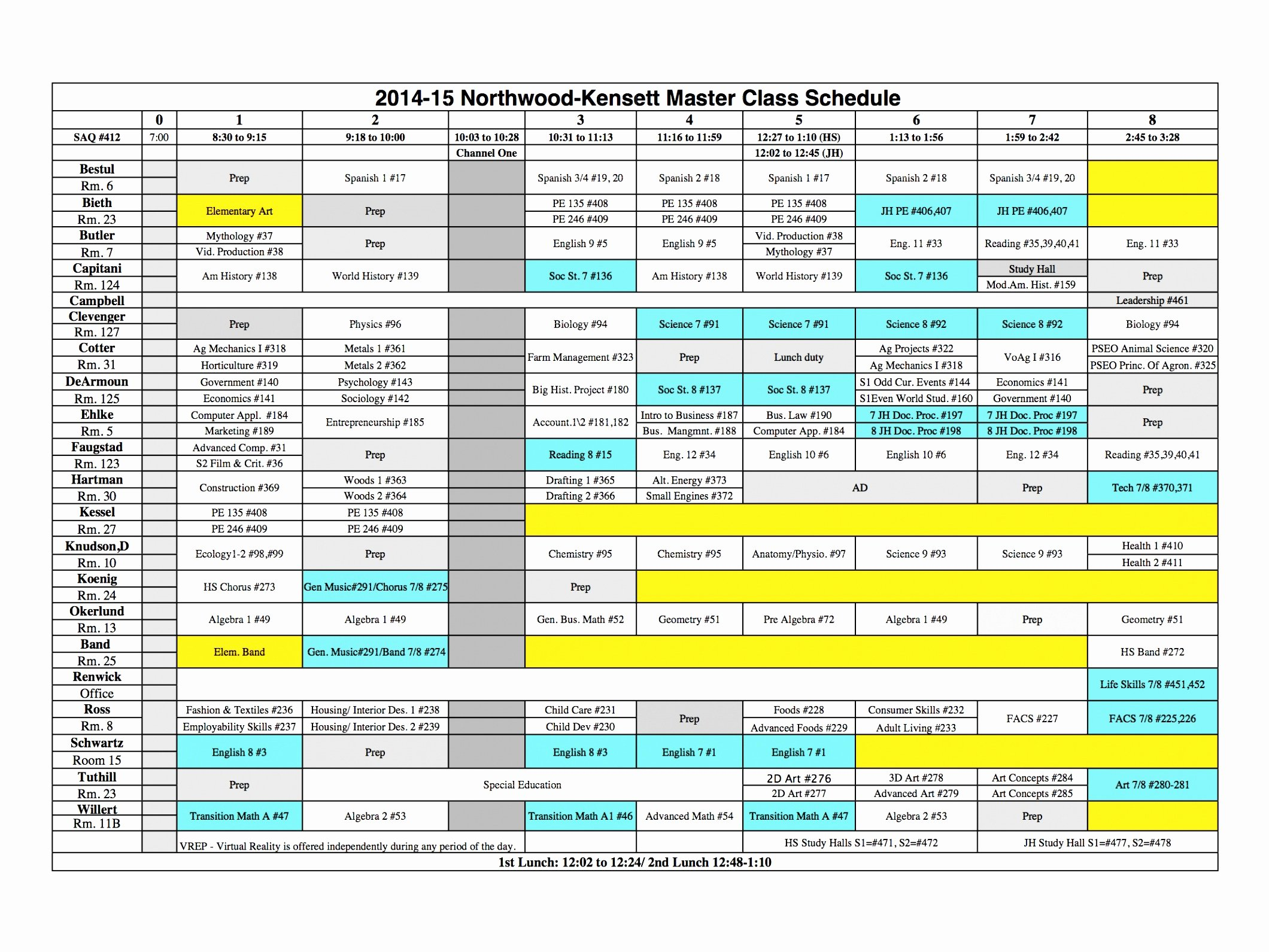 Elementary School Master Schedule Template Lovely 5 Middle School Schedule Template Eiuyt
