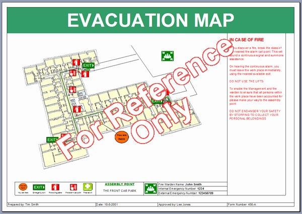 Emergency Evacuation Map Template Elegant Evacuation Map Template
