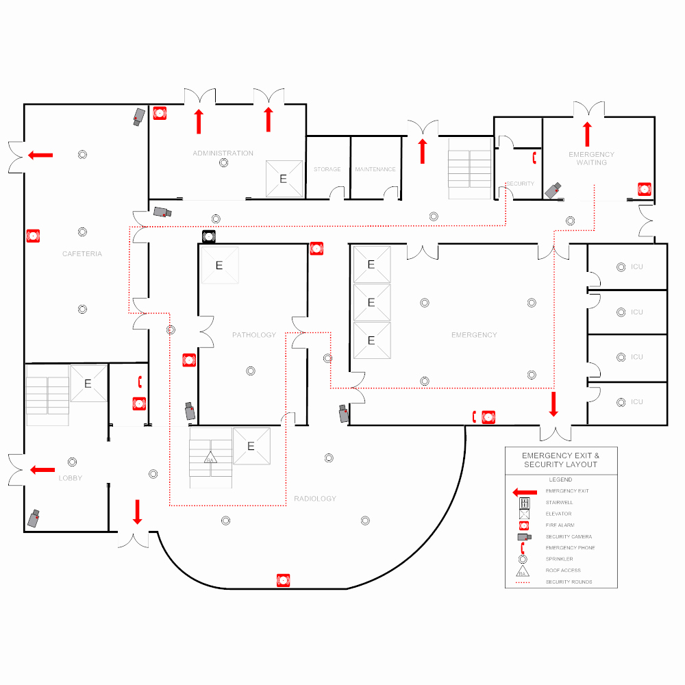 Emergency Evacuation Map Template New Hospital Emergency Plan