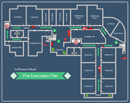 Emergency Evacuation Map Template Unique How to Create School Evacuation Plan