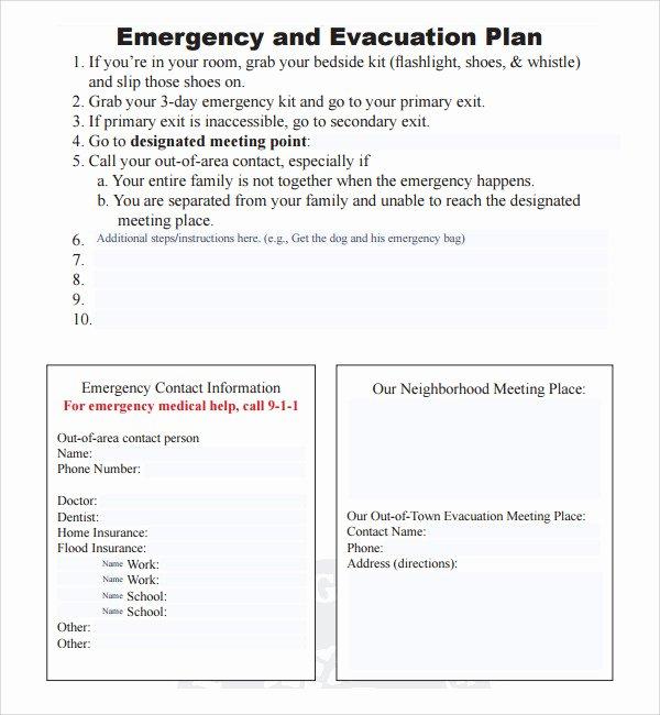 Emergency Evacuation Plan Template Free Elegant 10 Evacuation Plan Templates