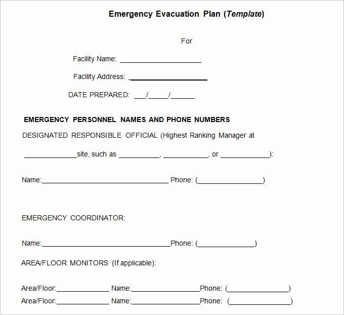 Emergency Evacuation Plan Template Free Fresh 3 Emergency Evacuation Plan Template Word Pdf Google