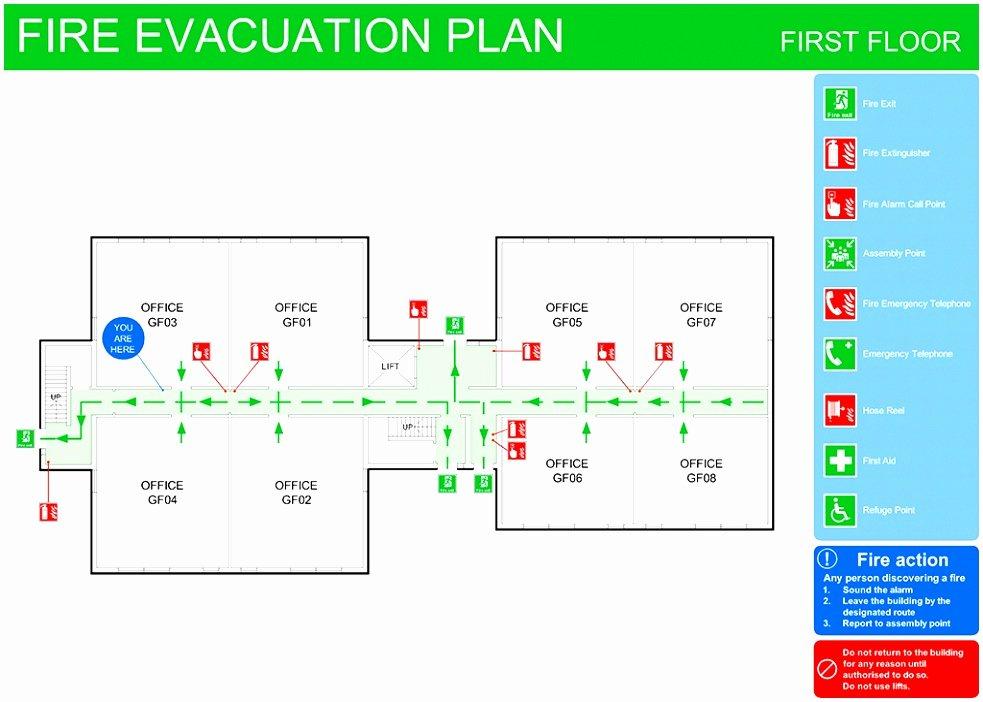 Emergency Evacuation Plan Template Free New 8 Emergency Exit Floor Plan Template toowt