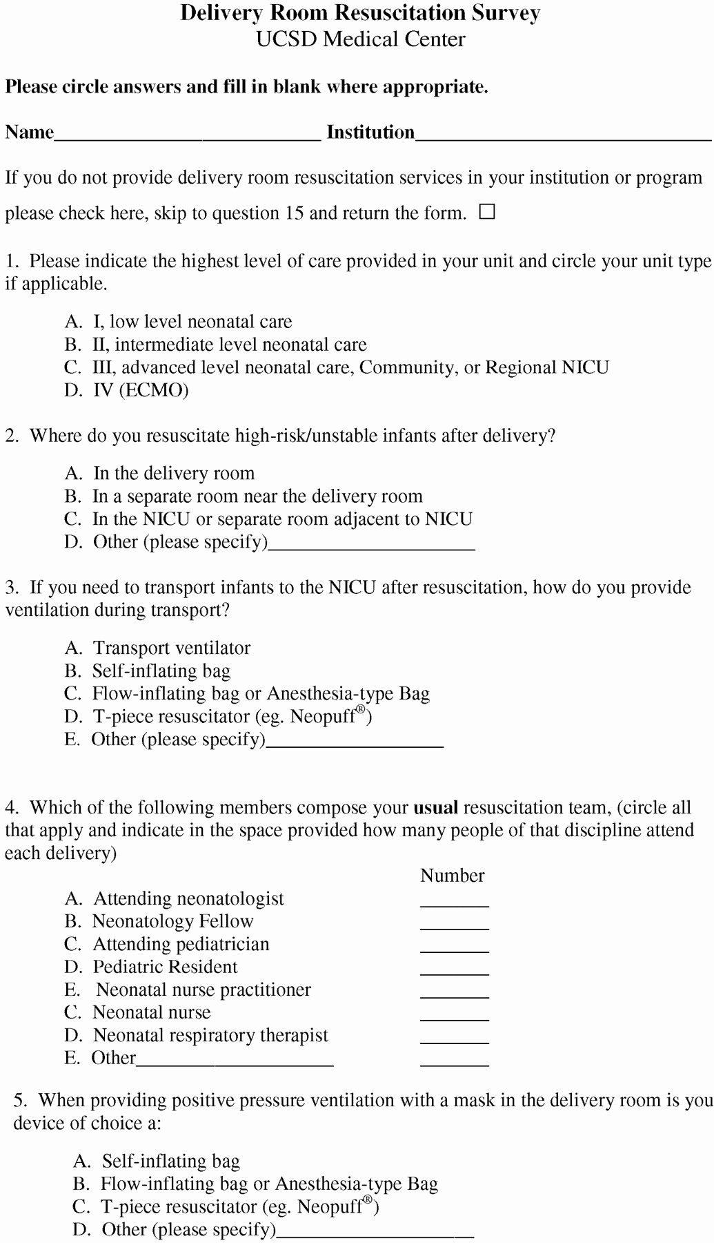 Emergency Room Discharge form Awesome A Survey Of Delivery Room Resuscitation Practices In the