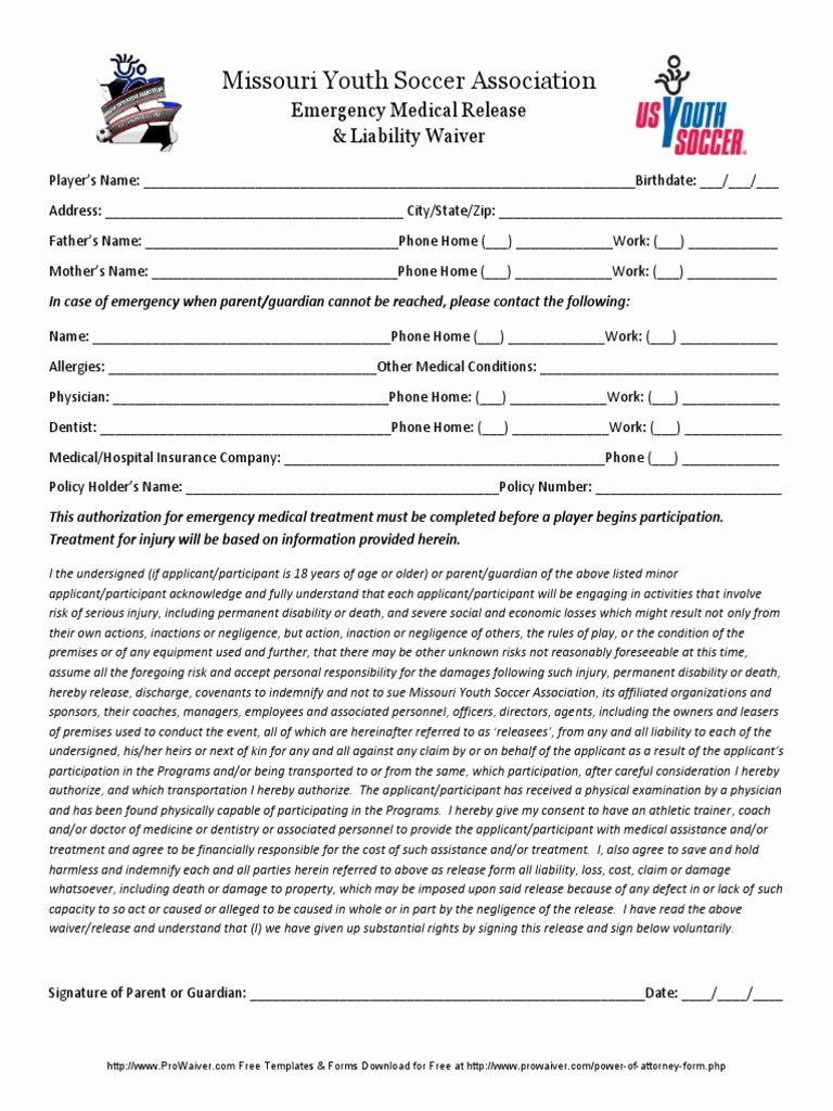 Emergency Room Release form Fresh Download Missouri General Affidavit form Doc