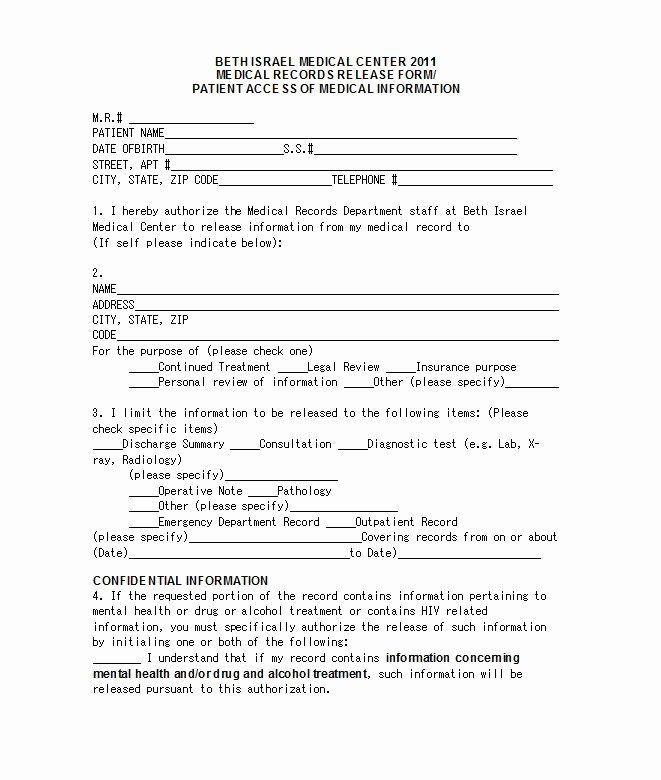 Emergency Room Release form Template Unique 30 Medical Release form Templates Template Lab